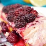 This gorgeous Blackberry Lemon Salmon is baked to perfection in just 30 minutes!