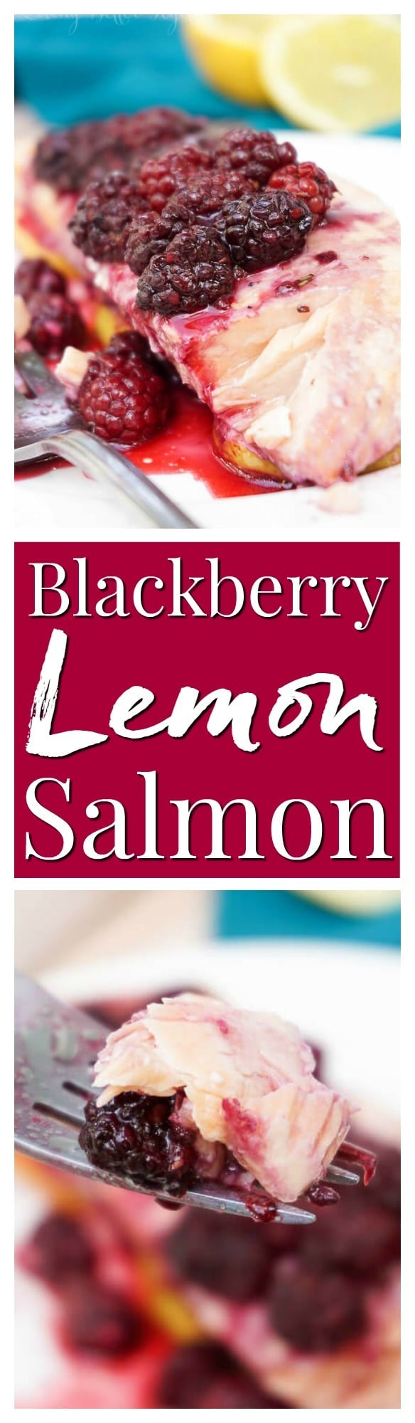 This gorgeous Blackberry Lemon Salmon is a light and flaky dinner recipe that's baked to perfection in just 30 minutes! via @sugarandsoulco