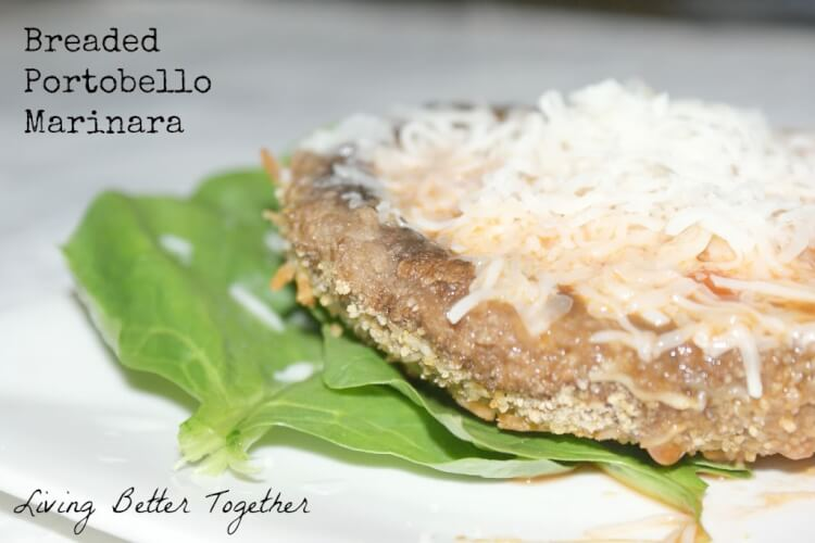 Breaded Portobello Marinara