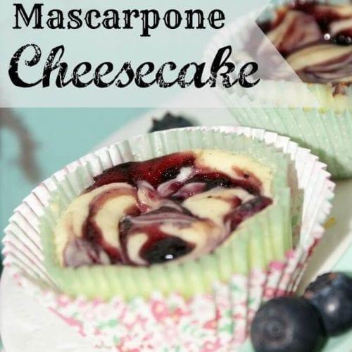 Maine Blueberry Mascarpone Cheesecakes