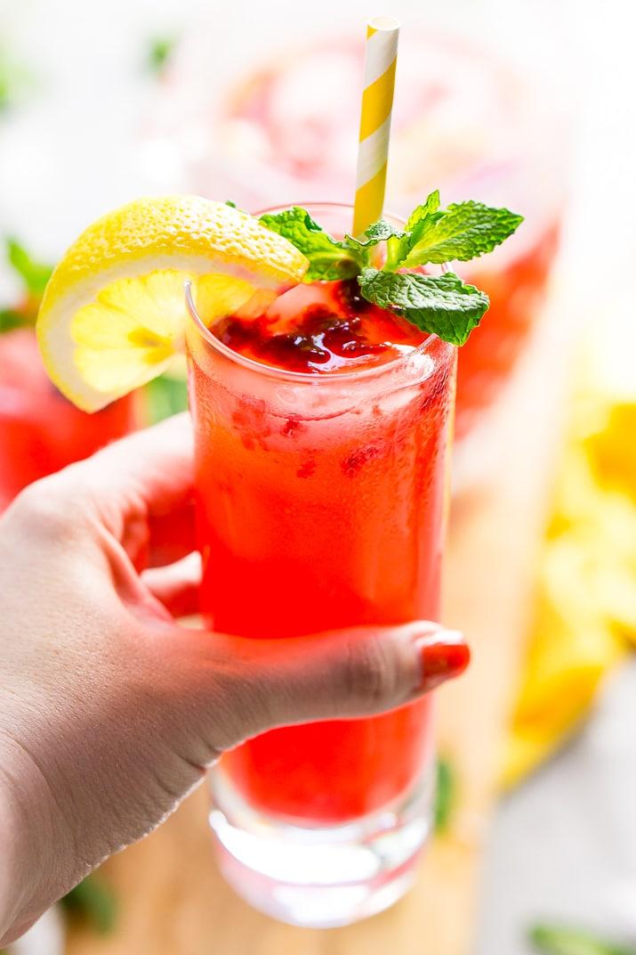 Sparkling Raspberry Lemonade Recipe Sugar And Soul
