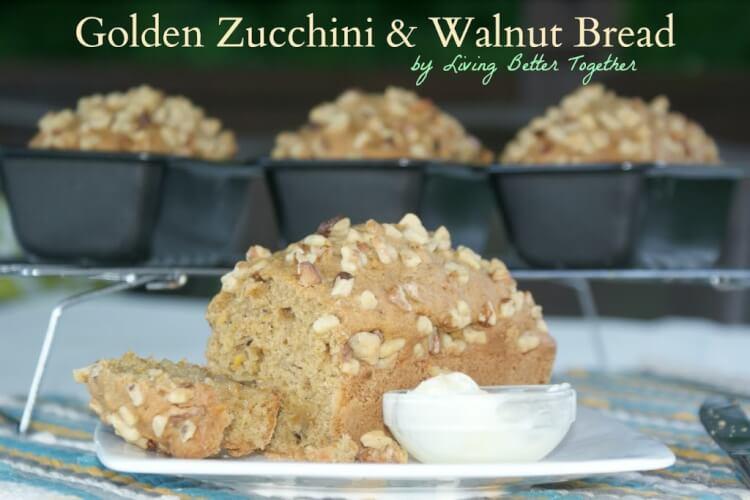 Golden Zucchini & Walnut Bread