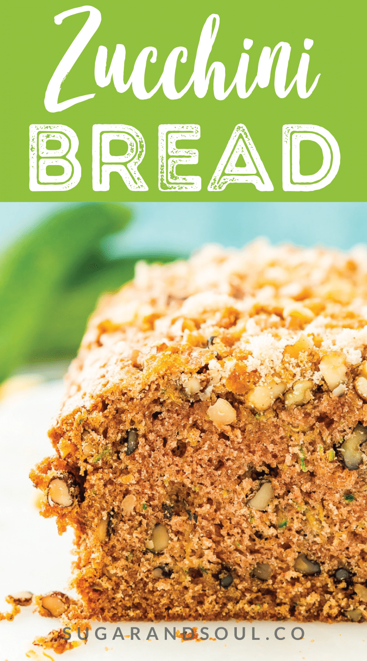 This Zucchini Bread recipe is a delicious quick bread that's loaded with tender zucchini, walnuts, and cinnamon - you can add lemon or chocolate chips too!