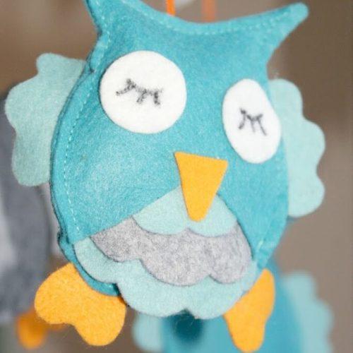 Felt Owl Mobile