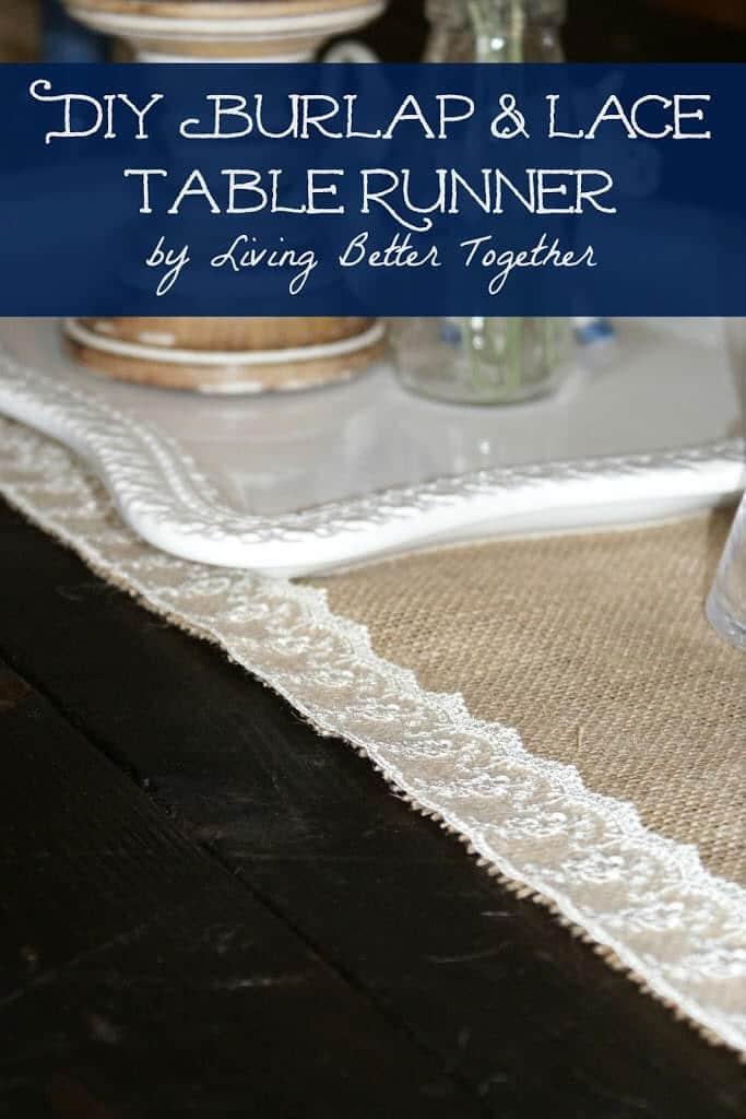 DIY Burlap & Lace Table Runner
