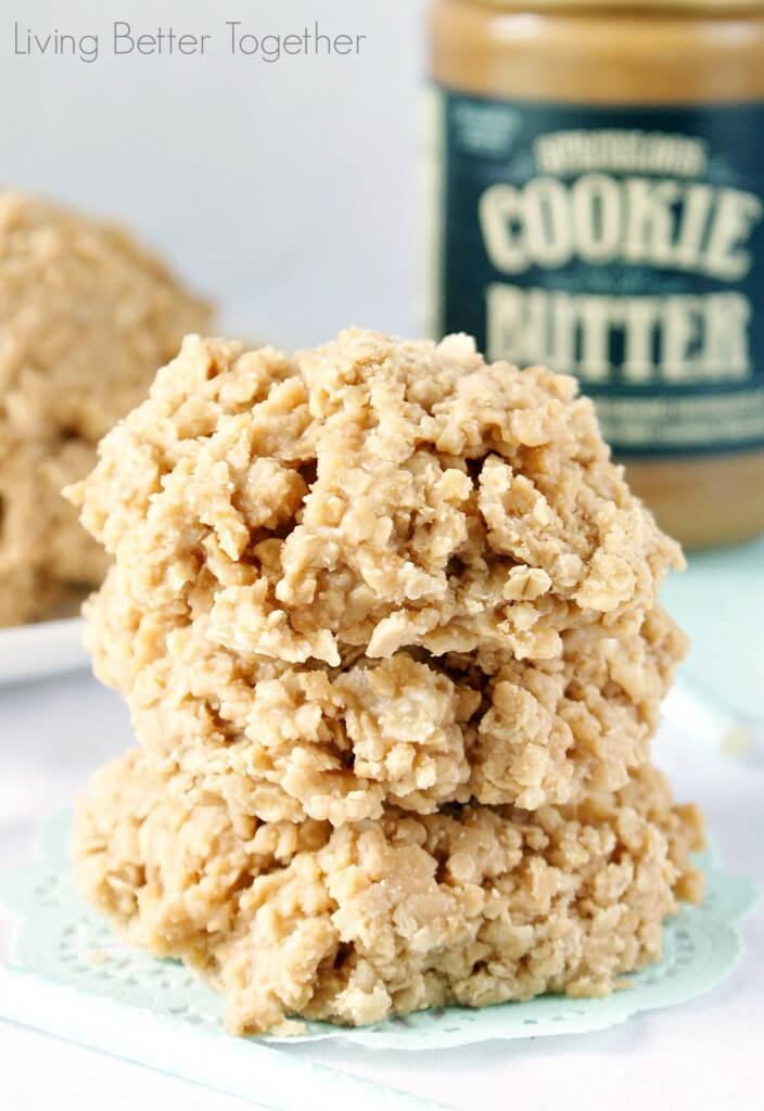 Cookie Butter No Bake Cookies | Living Better Together