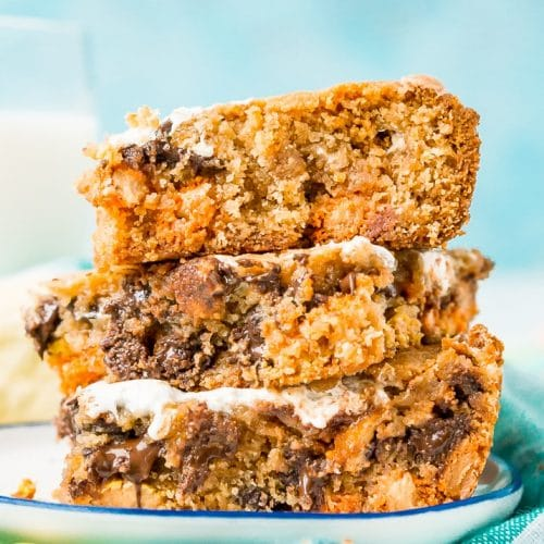 Peanut Butter Fluff Blondies