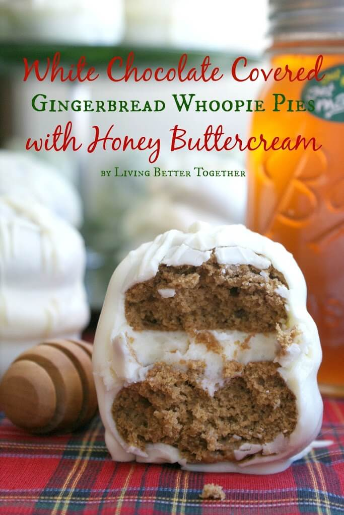 Gingerbread Whoopie Pies with Honey Buttercream