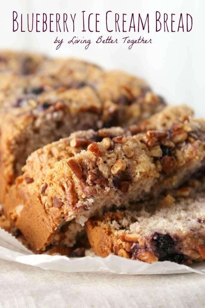 Blueberry Ice Cream Bread