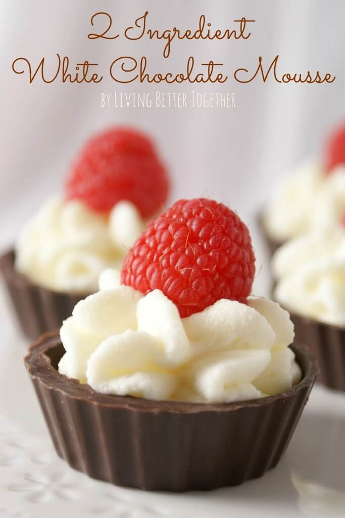 2 Ingredient White Chocolate Mousse