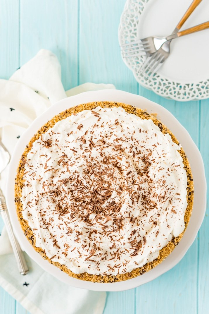 Whole Banoffee Pie on Cake Stand