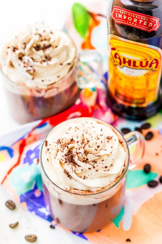 Boozy Hot Chocolate made with kahlua