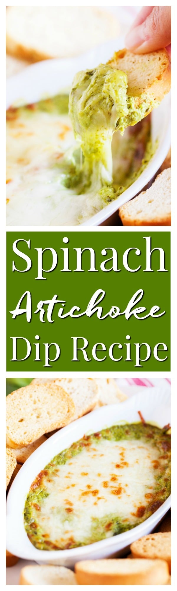This Baked Spinach Artichoke Dip is a must have at any party. With two different prep methods, you can make it either hearty or creamy! via @sugarandsoulco