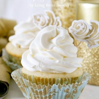 White Chocolate Raspberry Champagne Cupcakes   Living Better Together