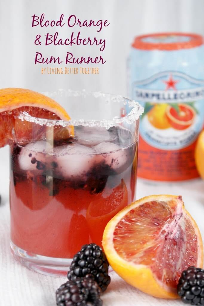 Blood Orange & Blackberry Rum Runner www.sugarandsoul.co