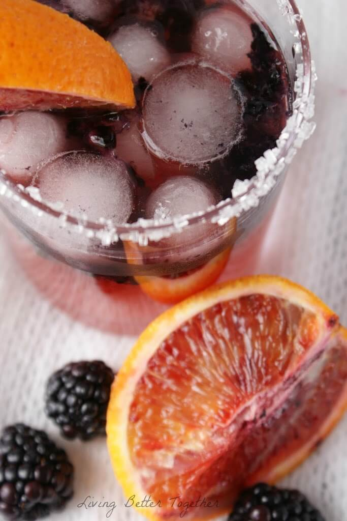 Blood Orange & Blackberry Rum Runner www.sugarandsoul.co