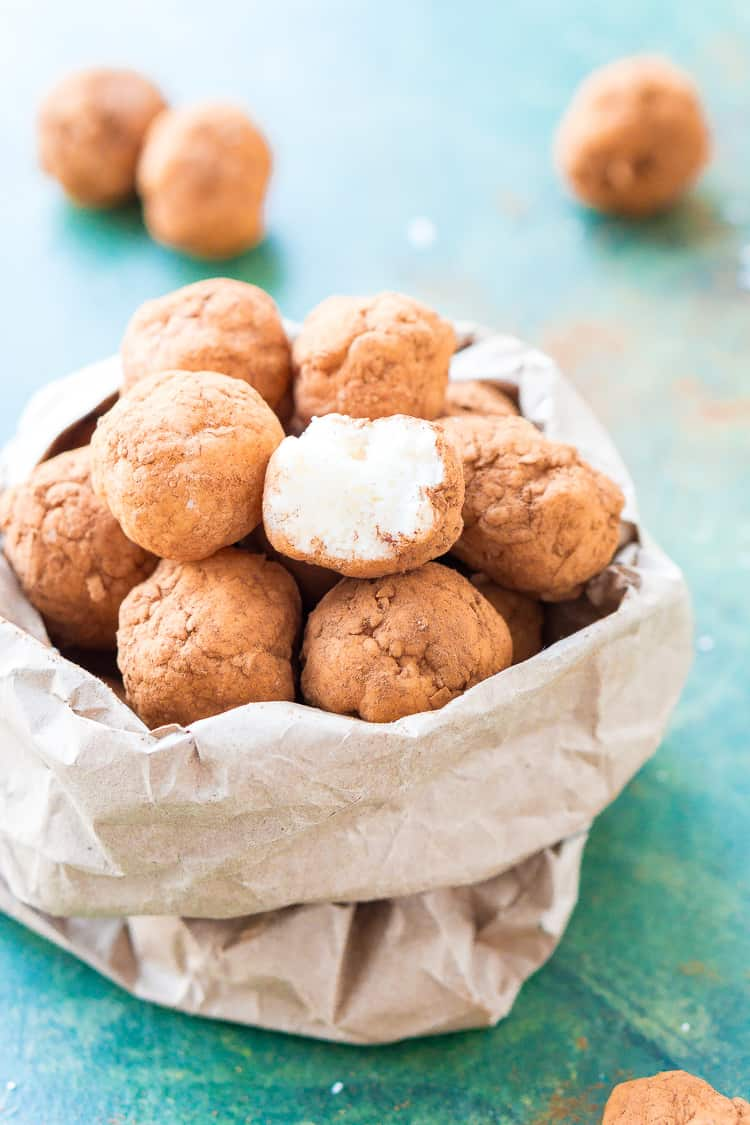 This Irish Potato Candy is perfect for celebrating St. Patrick's Day with! Made from coconut, cream cheese, sugar, and cinnamon and look like potatoes!