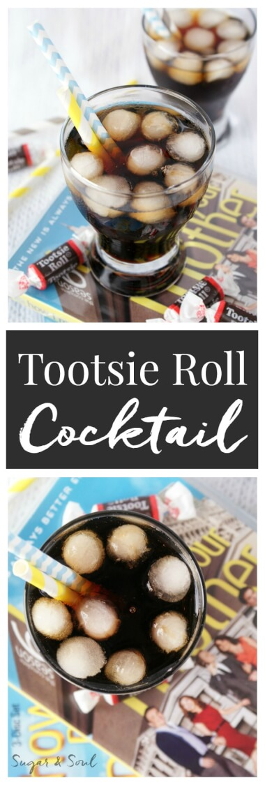 The Tootsie Roll Cocktail from How I Met Your Mother! The beloved cocktail of the slutty pumpkin! Why do they call it a Tootsie Roll? Because it tastes like an alcoholic Tootsie Roll!