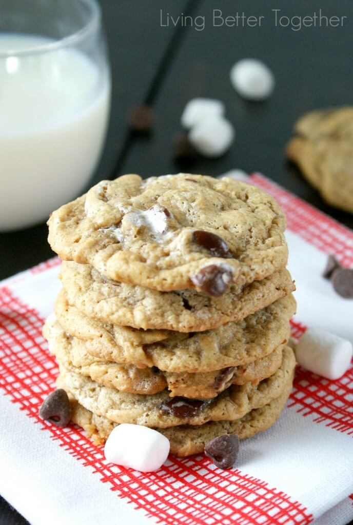 S'mores Cookies | www.sugarandsoul.co