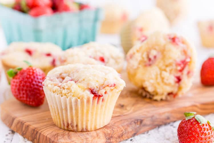 Strawberry Coffee Cake Muffins