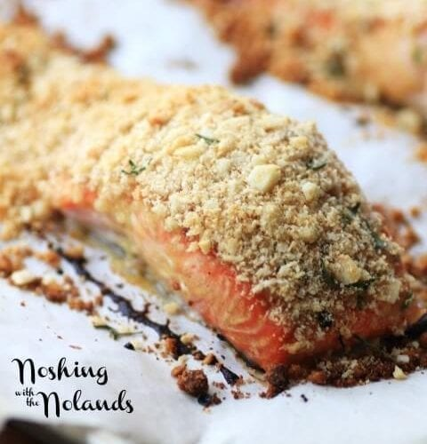 Macadamia Panko Crusted Salmon