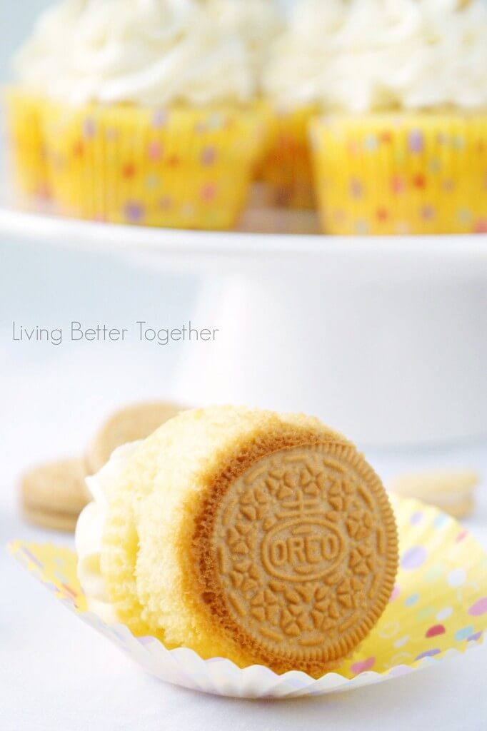 Golden Oreo Cupcakes | Living Better Together