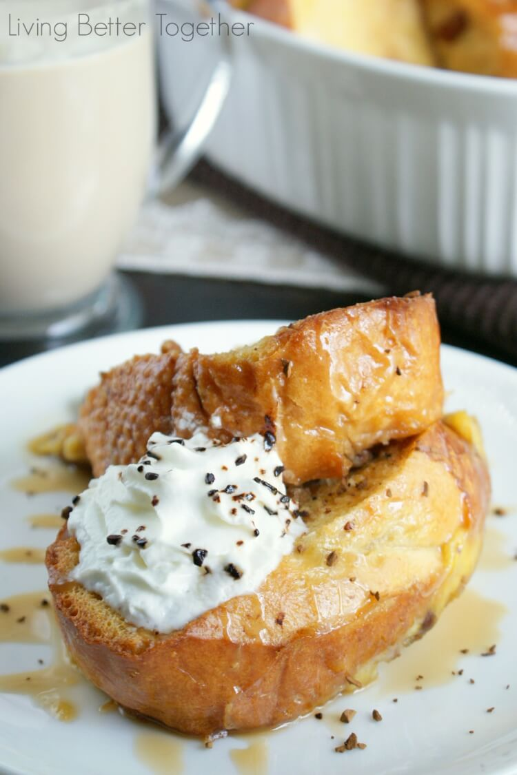 Overnight Caramel Macchiato French Toast