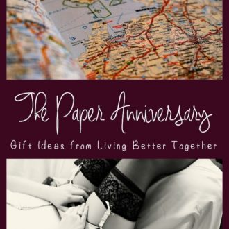 "The Paper Anniversary: Having a hard time coming up with a ""paper"" gift for your first anniversary? Here are seven great ideas to get those wheels turning!"