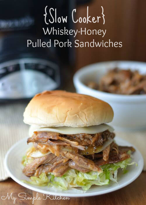 Whiskey Honey Pulled Pork Sandwiches
