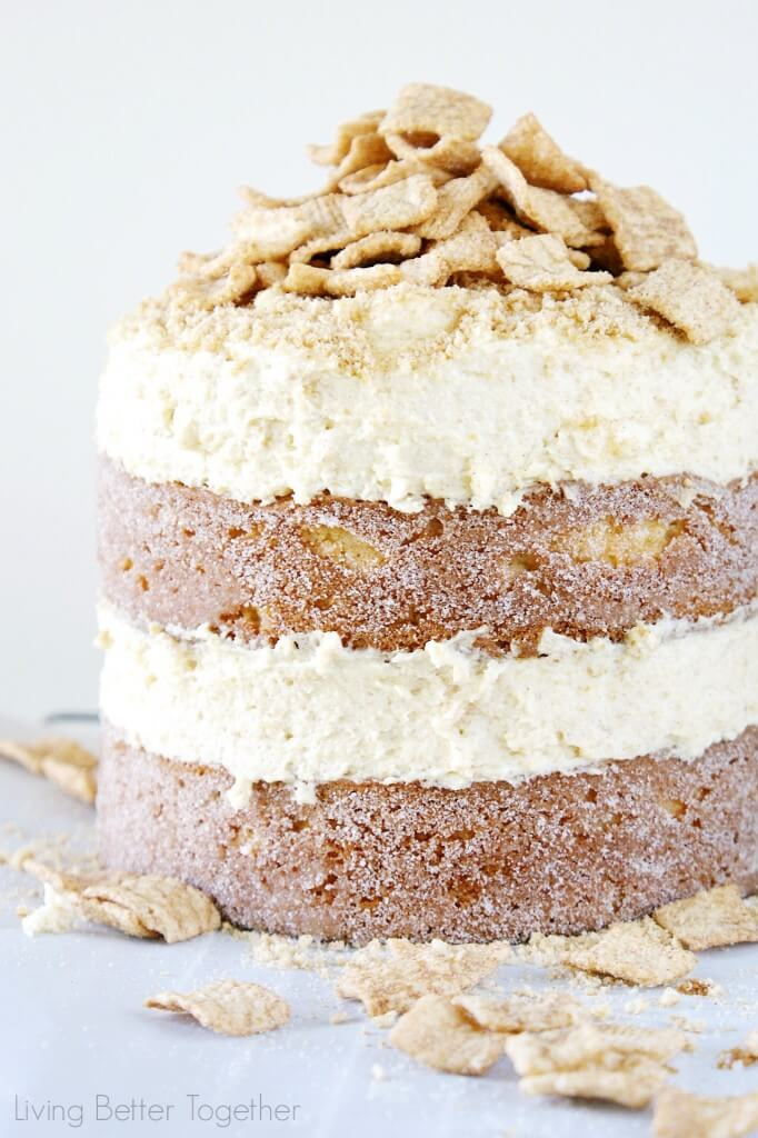 Cinnamon Toast Crunch Cake | Living Better Together