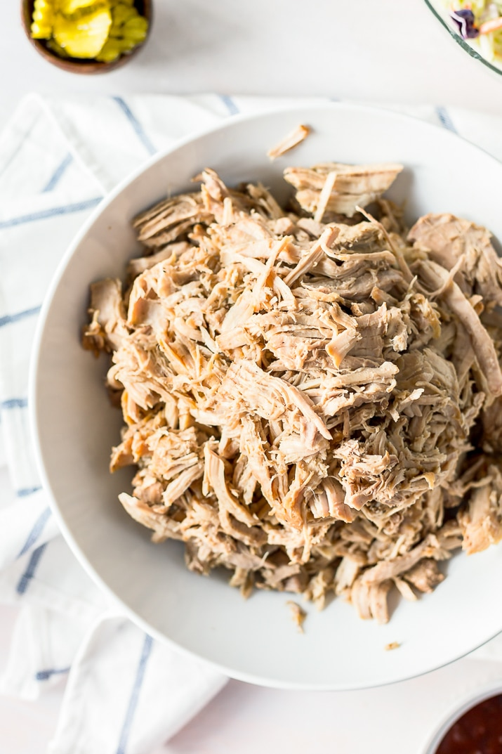 Whiskey Honey Pulled Pork is slow cooked to perfection and loaded with flavor!
