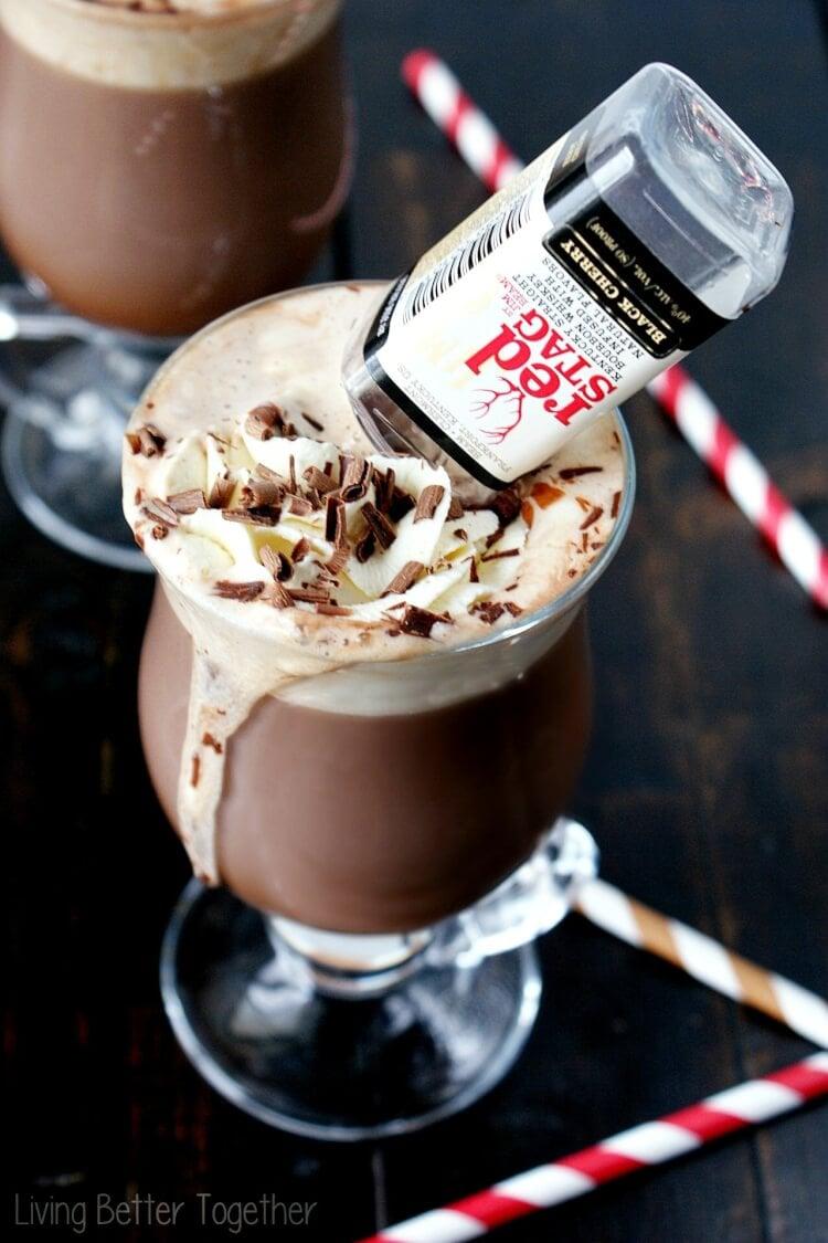 Black Cherry Bourbon Hot Chocolate - Sugar & Soul