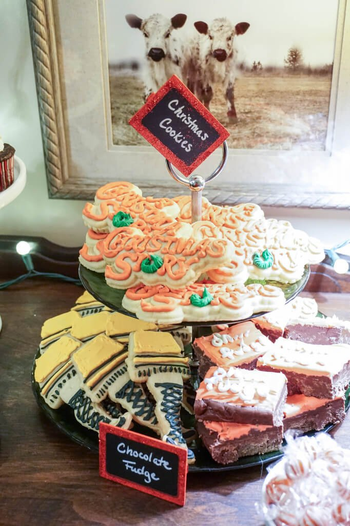 A Christmas Story themed Christmas Party with fudge, cookies, cocktails and of course, Chinese food! #HolidayMadeSimple #ad #CollectiveBias