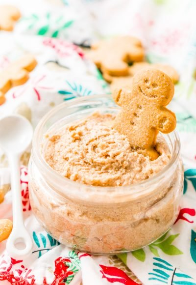 Treat your skin to a holiday treat with this Whipped Gingerbread Sugar Scrub! Everything you need is already in your pantry making it the perfect last-minute gift!