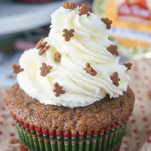 Gingerbread Cupcakes with Honey Buttercream
