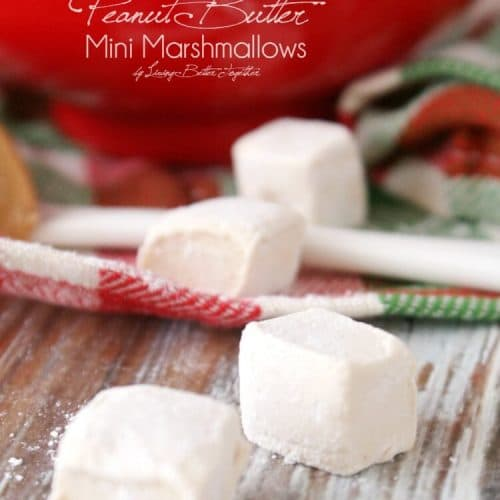 Homemade Mini Peanut Butter Marshmallows