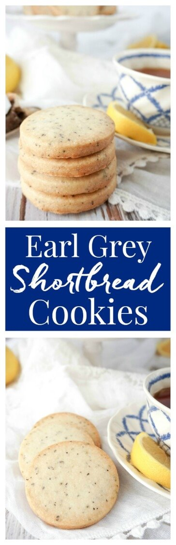 Crisp and buttery shortbread cookies with a hint of Earl Grey, with just 5-ingredients, they're perfect for parties, tea time, or scarfing down all by yourself! <---- Like I did! via @sugarandsoulco