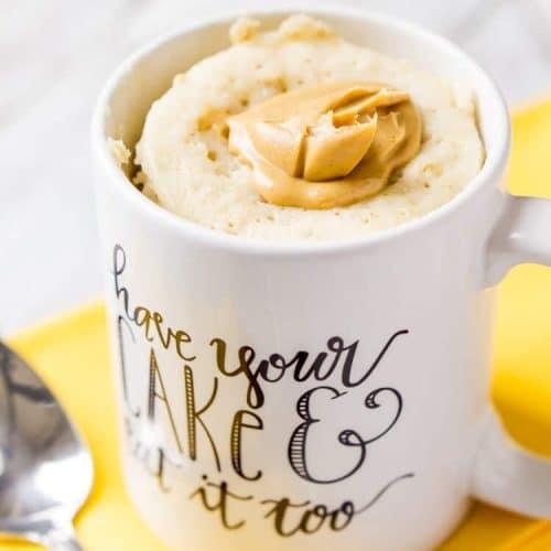 Peanut Butter & Oatmeal Mug Cake