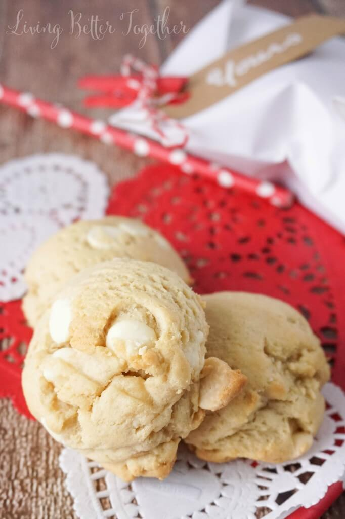 These White Chocolate Pudding Cookies are soft and chewy and loaded with white chocolate chips!