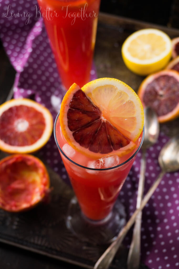 Citrus tango gin blood orange cocktail sugar soul for Best juice with gin