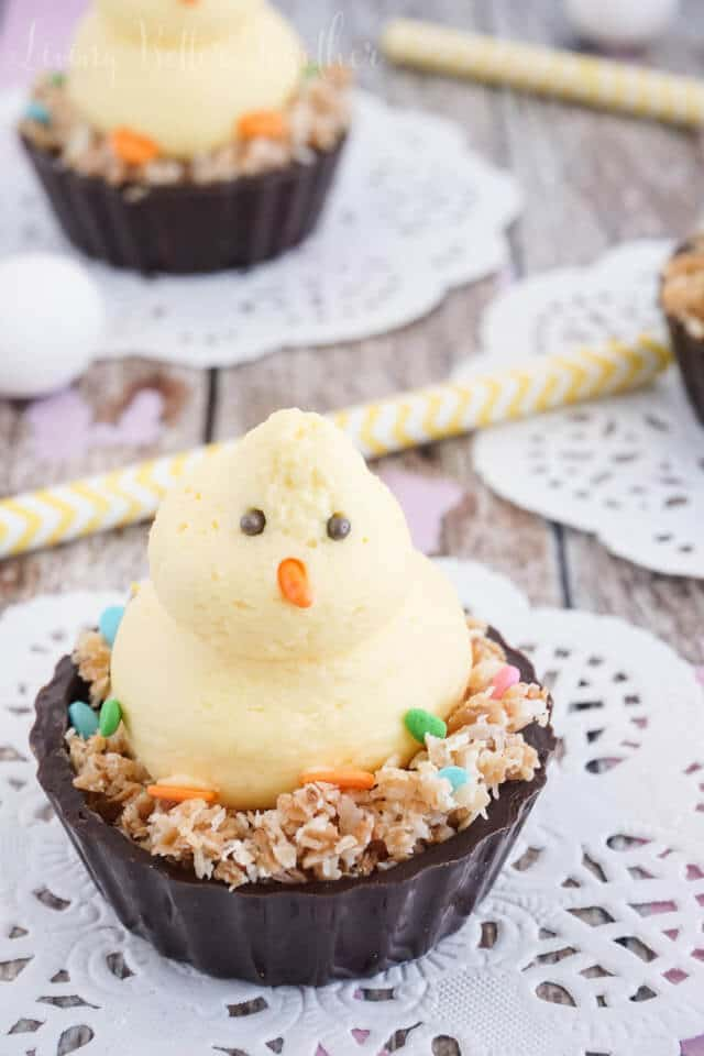 Easter Chick Mousse Cups