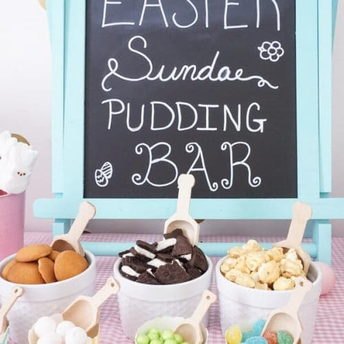 Easter Sundae Pudding Cups Bar