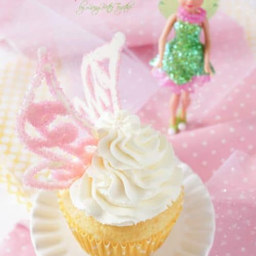 Lemon Cheesecake Tinker Bell Cupcakes