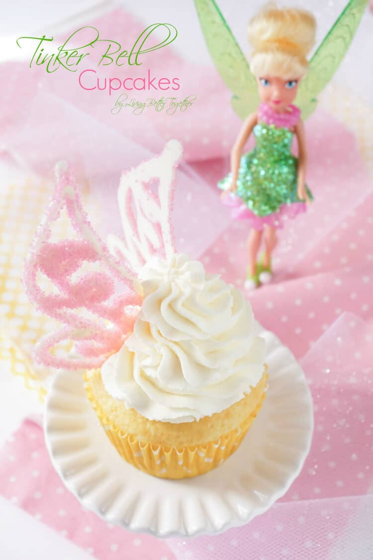 Lemon Cheesecake Tinker Bell Cupcakes - Sugar & Soul