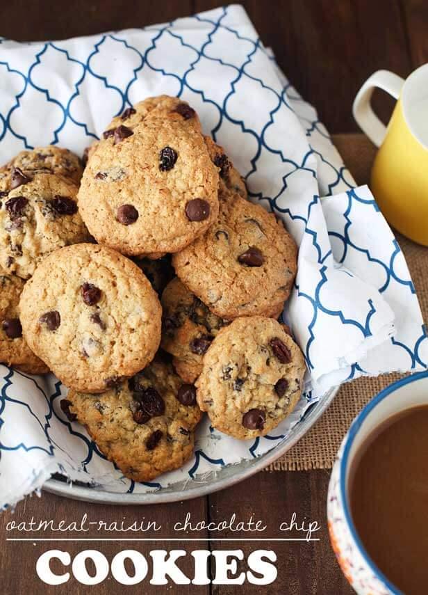 oatmeal-raisin-chocolate-chip-cookies