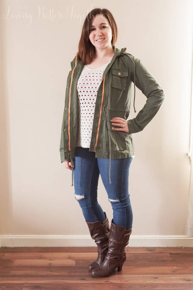 April 2015 Stitch Fix Review: Market & Spruce - Chaplin Hooded Anorak Cargo Jacket