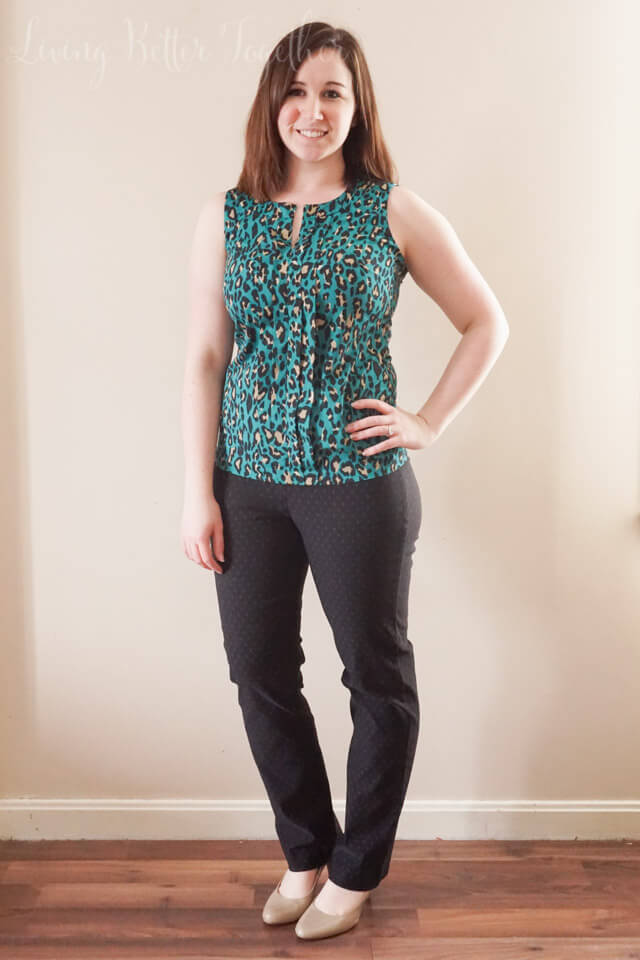 April 2015 Stitch Fix Review: Margaret M - Emer Polka Dot Print High Waisted Cropped Pant