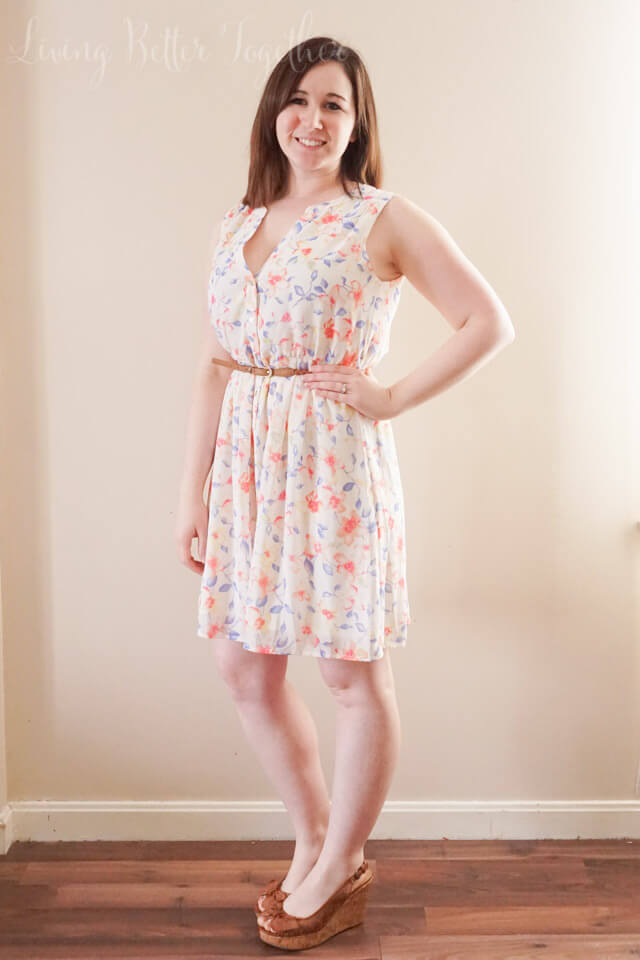 April 2015 Stitch Fix Review: Skies are Blue - Winifred Floral Print Dress