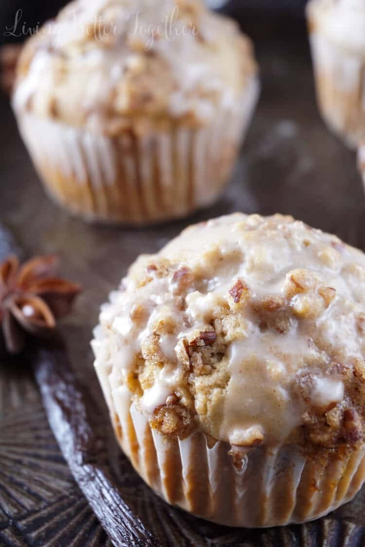 Vanilla Chai Crumble Muffins