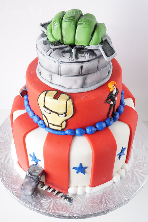 How awesome is this Avengers cake!